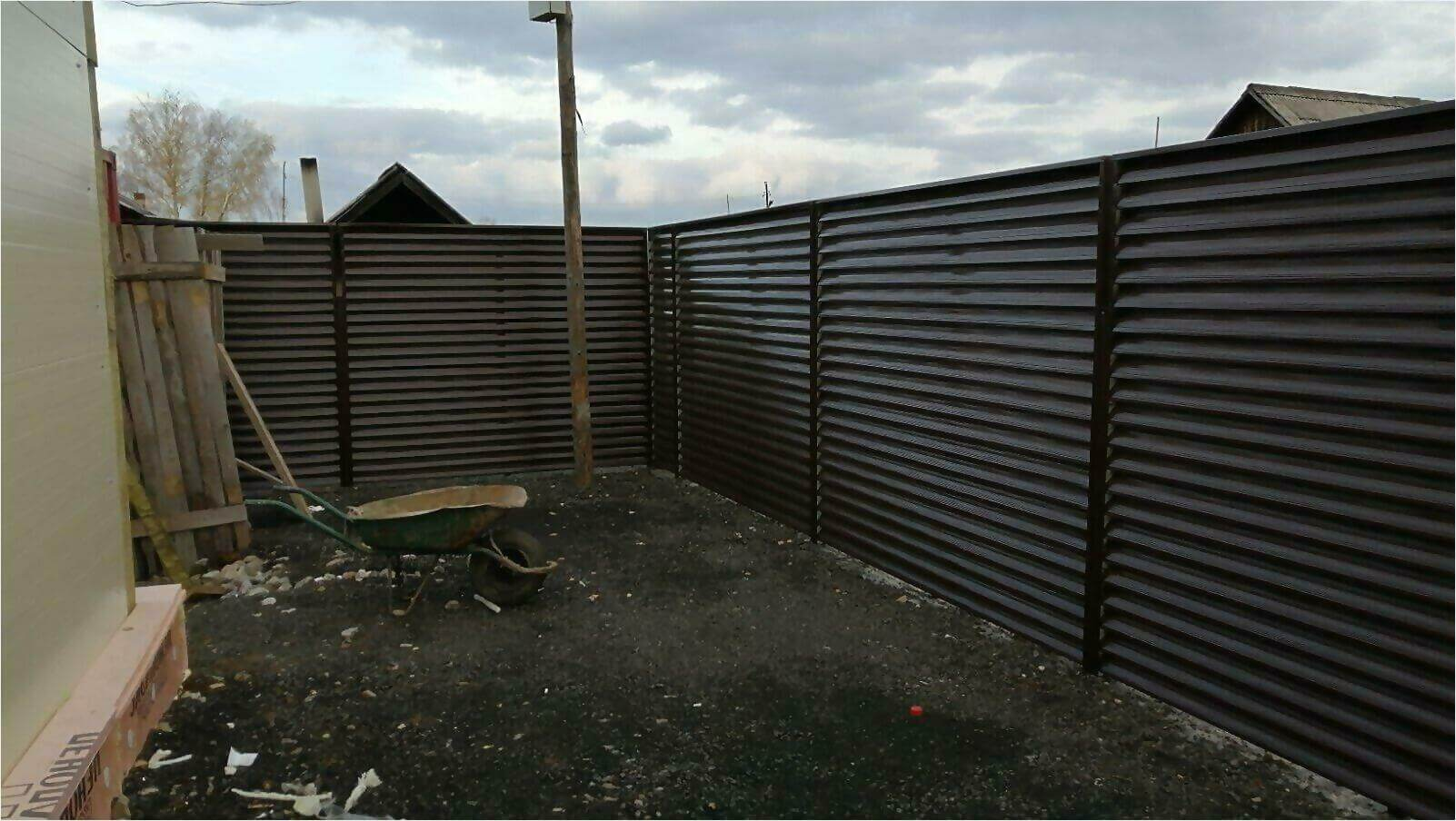 Забор-жалюзи шоколад фото1