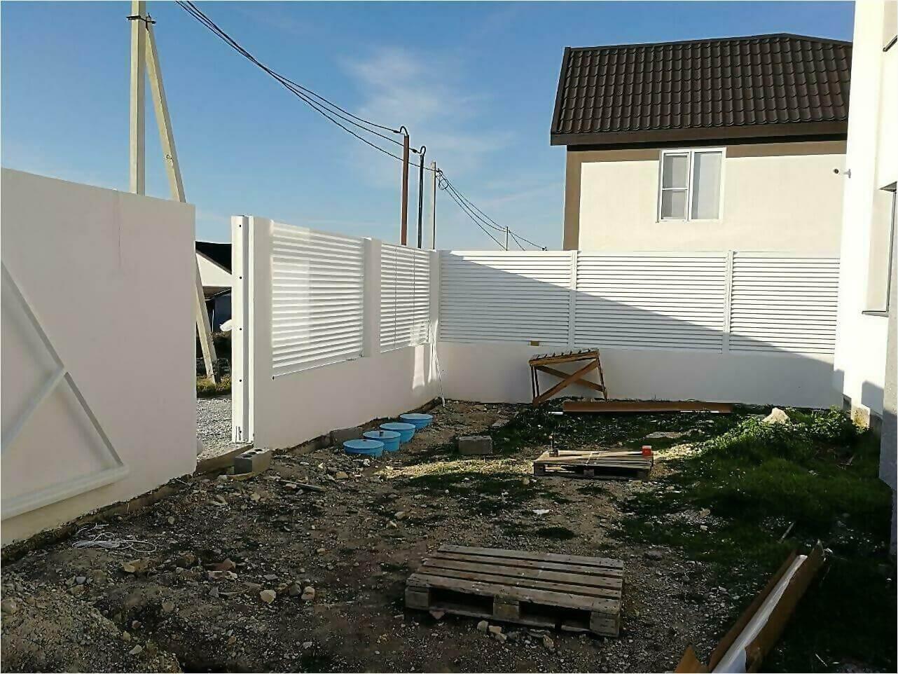 Забор-жалюзи белый фото2