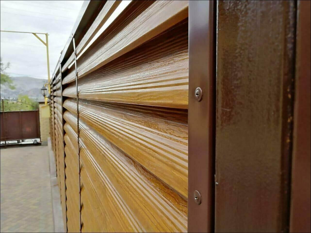 забор жалюзи золотое дерево фото4