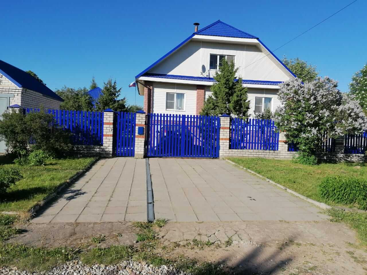 забор из штакетника Синий Ультрамарин фото1