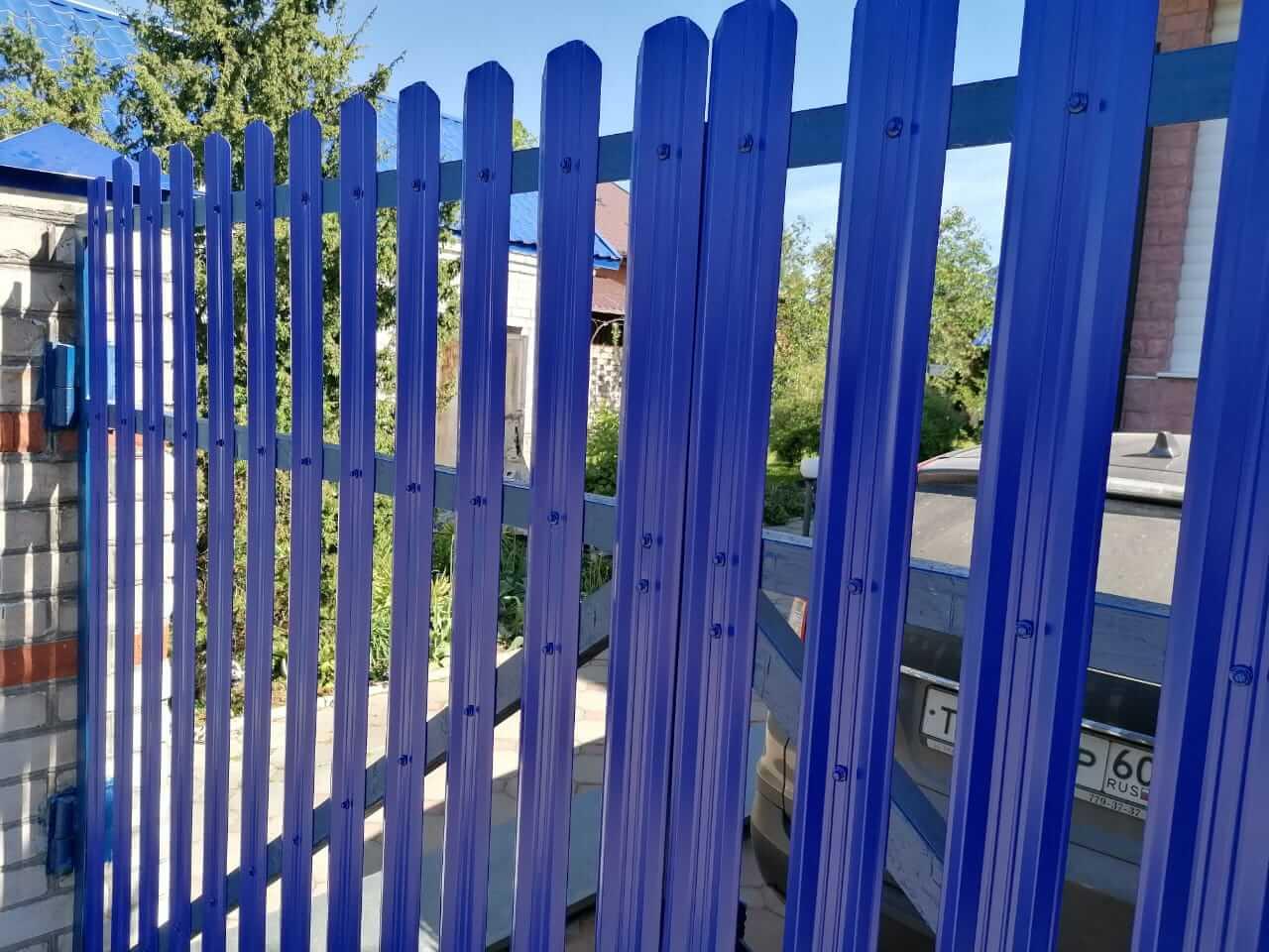 забор из штакетника Синий Ультрамарин фото2