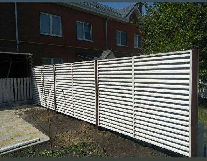 Забор-жалюзи 75м Беленый дуб фото7