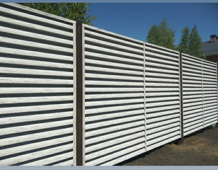 Забор-жалюзи 75м Беленый дуб фото6