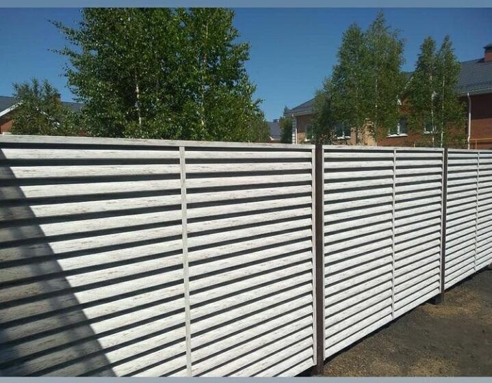 Забор-жалюзи 75м Беленый дуб фото4