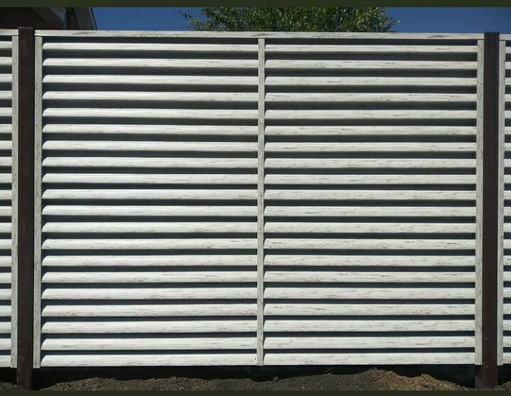 Забор-жалюзи 75м Беленый дуб фото2